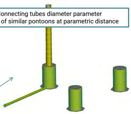 tubes Step 1: Pontoon Diameter and Height parameter Step 3: Number of ribs per quadrant parameter