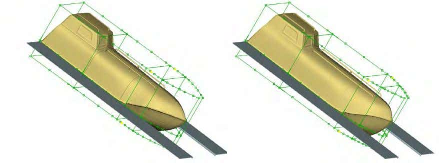defined using morphing functionality, modifying the shape of the lifeboat  Nose Shape  Rear Shape