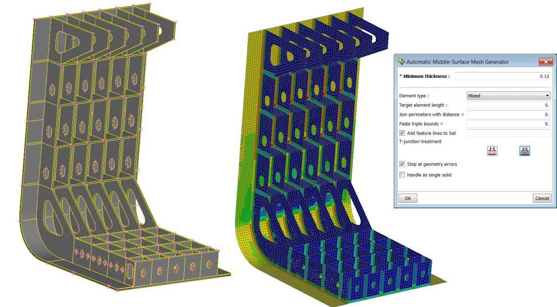 skin extraction Fully automatic middle surface extraction creates FE Model Nodal thickness assignment www.beta-cae.com