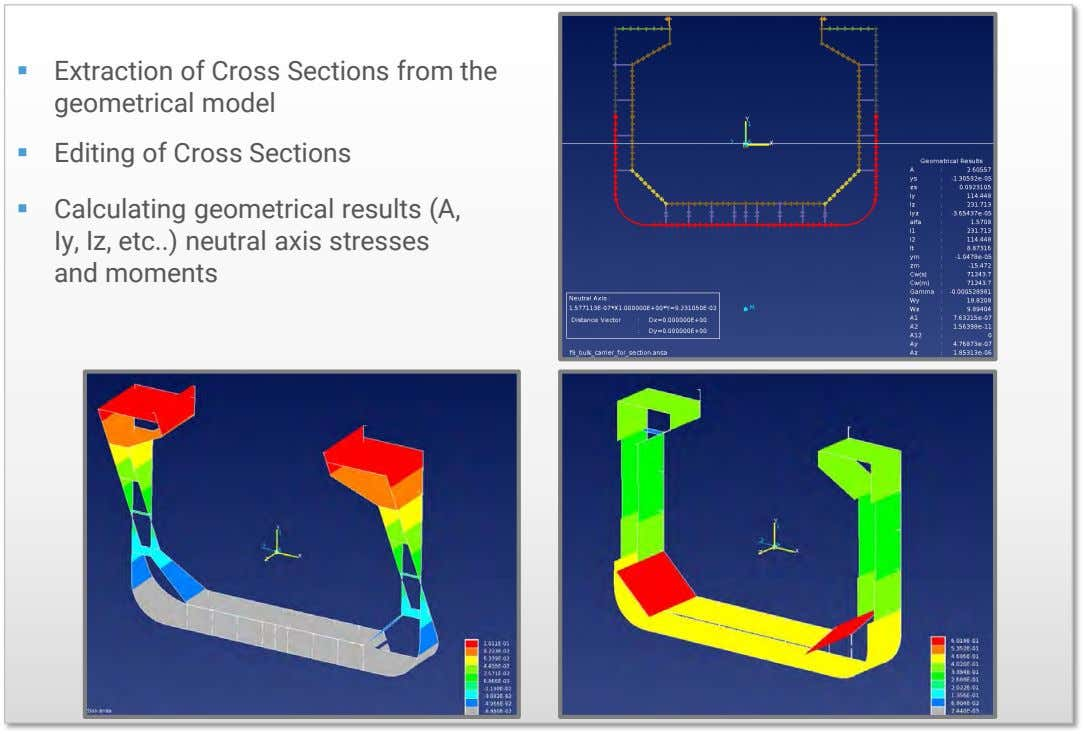  Extraction of Cross Sections from the geometrical model  Editing of Cross Sections 