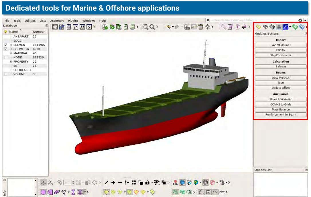 Dedicated tools for Marine & Offshore applications