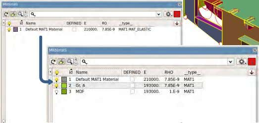 and solid description step file  Import model data:  Property Thickness and  Material data