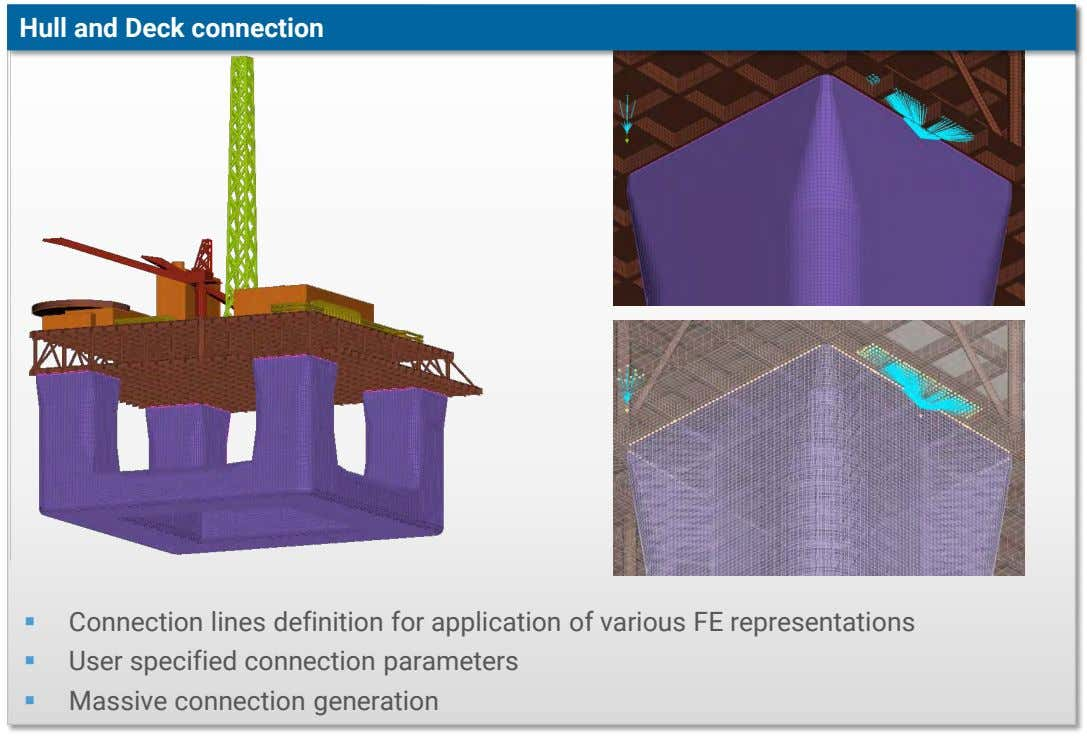Hull and Deck connection  Connection lines definition for application of various FE representations 