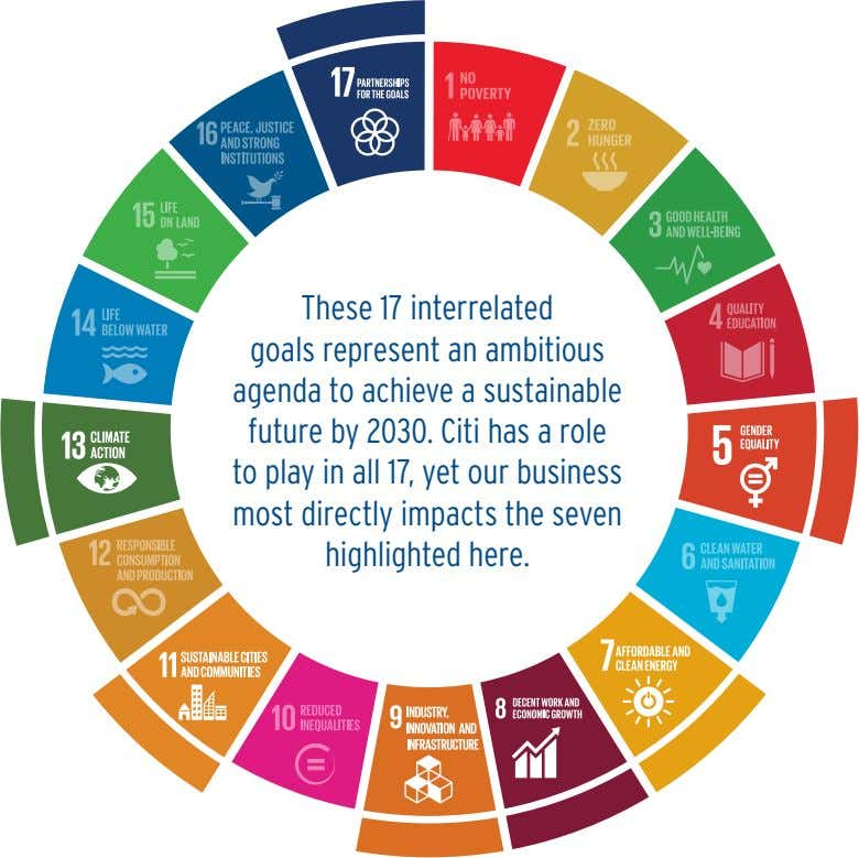 These 17 interrelated goals represent an ambitious agenda to achieve a sustainable future by 2030.