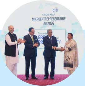 Inclusive and Resilient Communities Environmental Finance 37 < Citi Microentrepreneurship Awards For more than