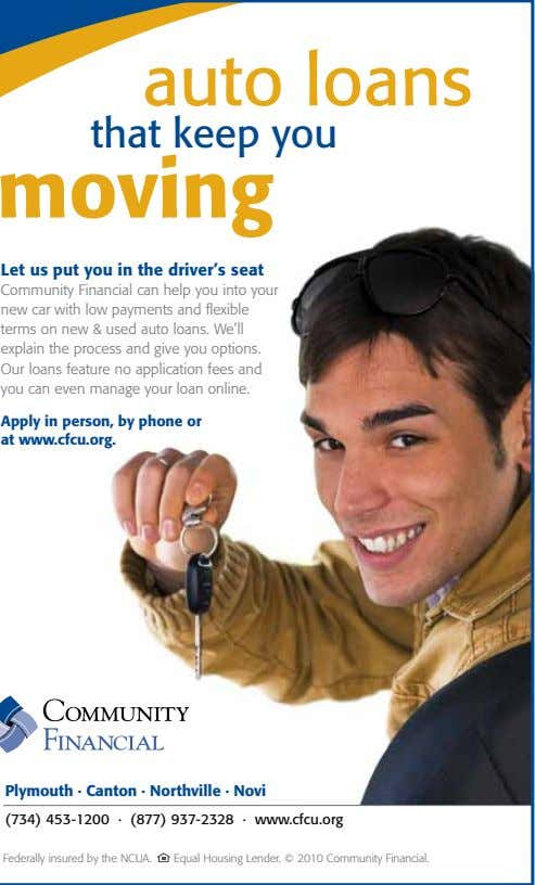 auto loans that keep you moving Let us put you in the driver's seat Community