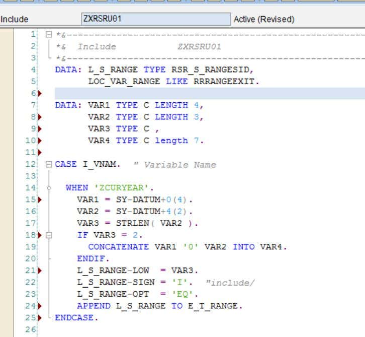 from Current System Date (SY-DATUM). Logic for the Code Once the logic is written, the code