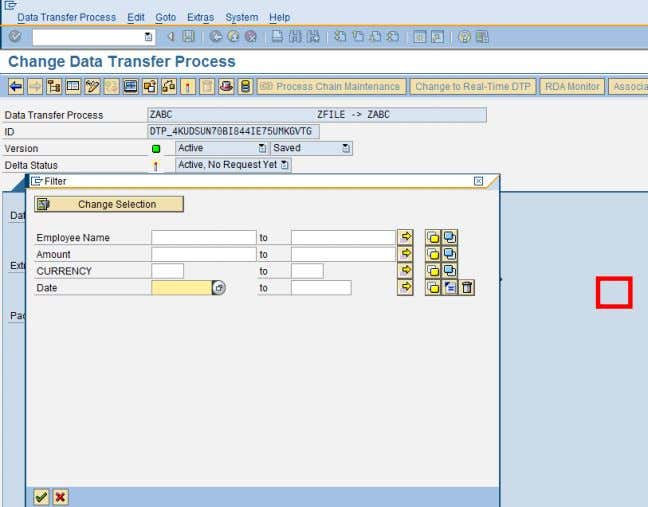 Usage of ABAP in BI Activate the DTP. After executing the DTP, we can check the