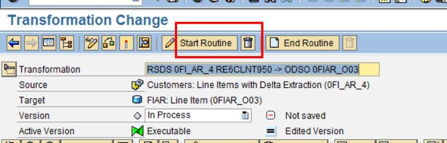 ind) = 'A'. Save the routine, once the coding is done. As shown above, the start