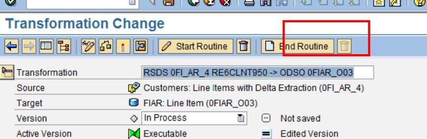 End Routine Click on end routine, to create the end routine. In the Source code section,