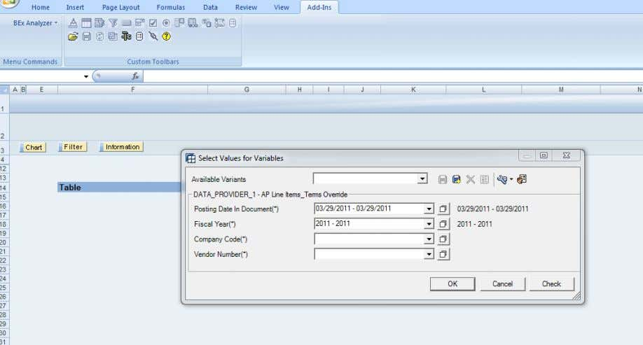 Executing the Query, The variable screen is shown below. SAP COMMUNITY NETWORK SDN - sdn.sap.com |