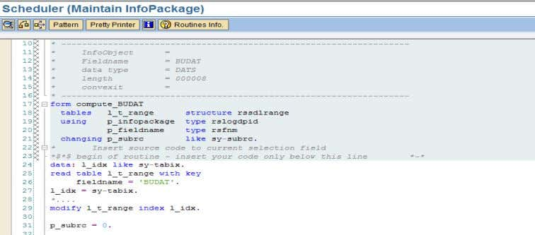 into ABAP editor, the code can be written accordingly. Logic for the code to enter the