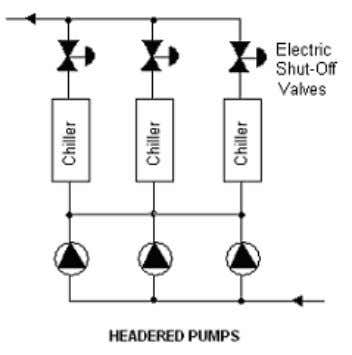 Another problem with manifolded pumps is that an entire chiller plant can fail due to