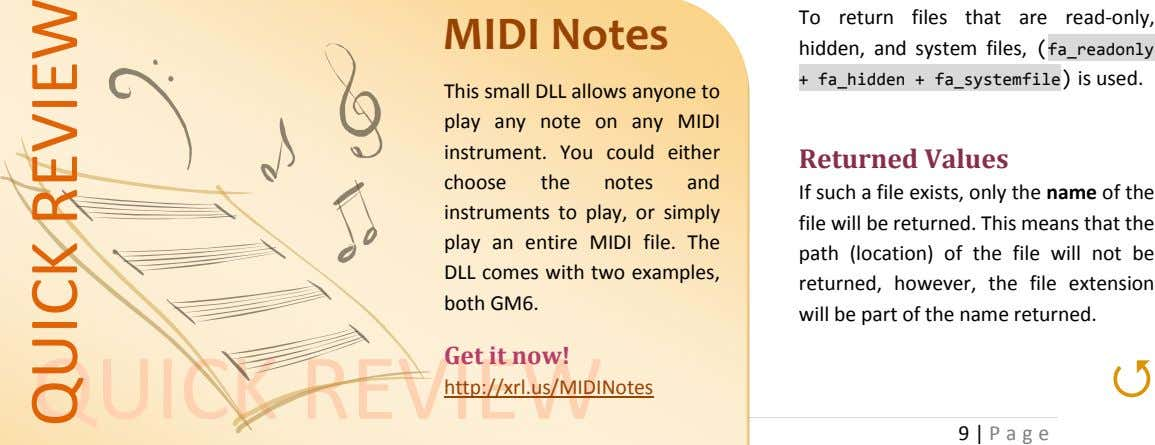 To return files that are read-only, MIDI Notes hidden, and system files, ( fa_readonly +