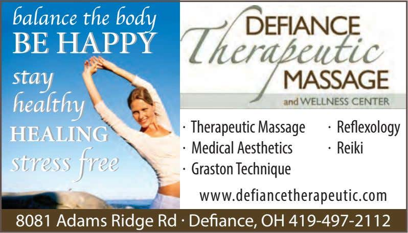 balancebalance thethe bodybody BEBE HAPPYHAPPY stay stay healthy healthy . . Therapeutic Massage Reflexology