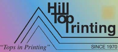 """Tops in Printing"" SINCE 1970"