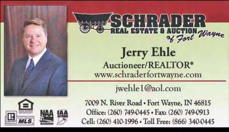 REAL ESTATE & AUCTIONEERING OHIO & INDIANA S i E fkER REAl EStAtE & Auction co.