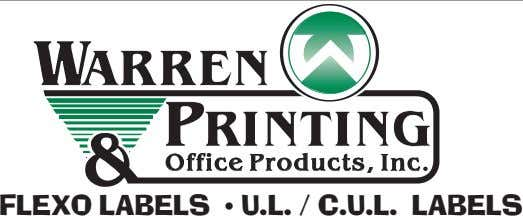 WAR R EN PRI NTI NG Office P roduc ts , Inc . FLEXO LABELS