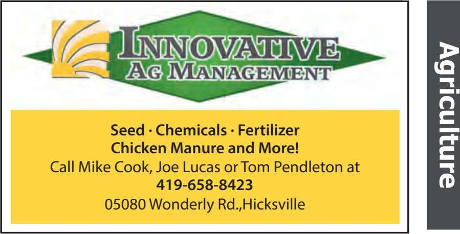 Seed • Chemicals • Fertilizer Seed . Chemicals . Fertilizer Chicken Manure and More! and