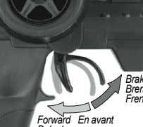 5 Brake Forward En avant Delante Bremse Freno Operate the throttle trigger to check if the