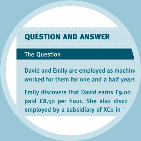 QUESTION AND ANSWER The Question David and Emily are employed as machin worked for them