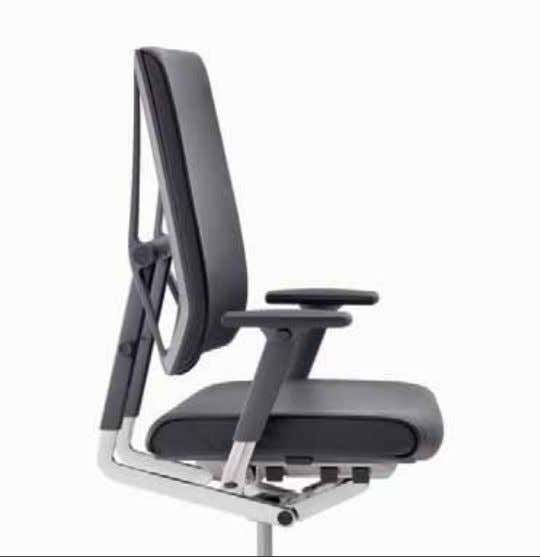 a support arm which is constructed to provide correct flexible ergonomic support when reclining and sitting