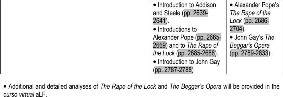 • Introduction to Addison and Steele (pp. 2639- • Alexander Pope's The Rape of the