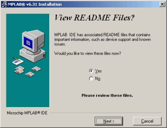 View README files? In order to install the USB device driver for MPLAB ICD2 you
