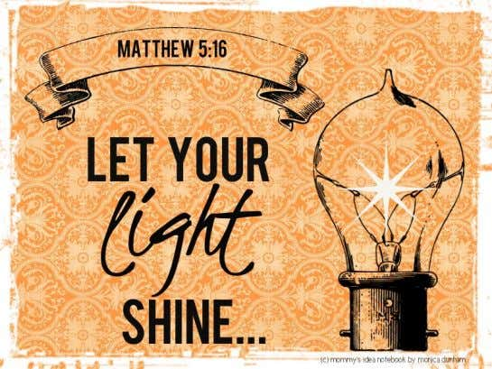 Launch Sunday, September 7 t h Put it on your Calendar! …let your light shine before
