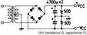 of flicker noise in AC primary line. Equivalent Circuit Specified transformer power supply (Equivalent to RP-25)