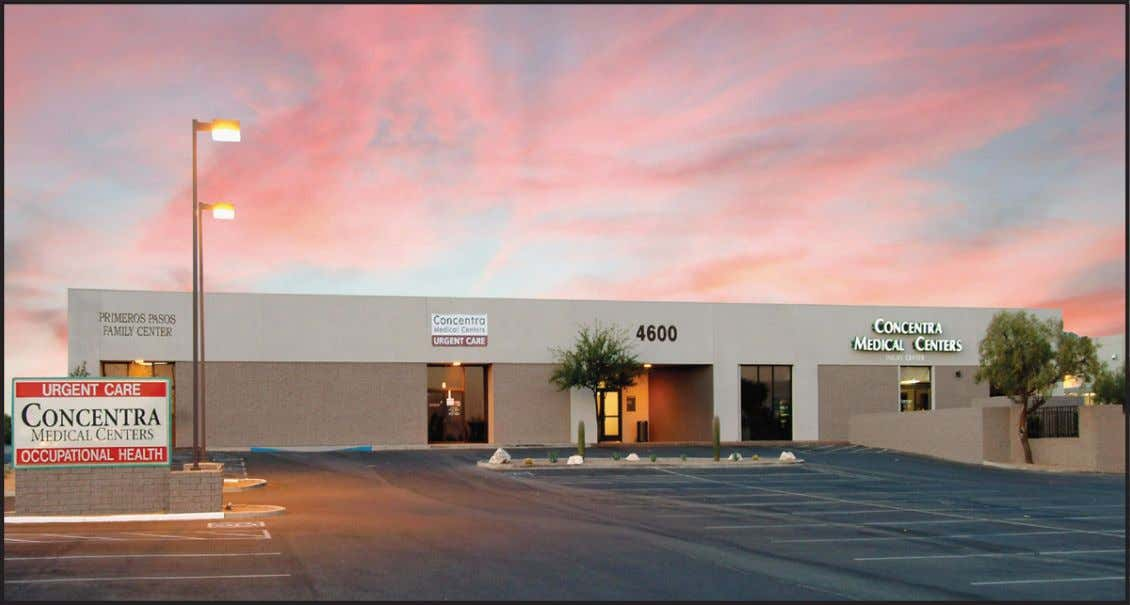 Lease OFFICE/MEDICAL 4600 South Park Avenue Tucson, Arizona SUITE SIZE SF RENT PSF COMMENTS 1 2,659