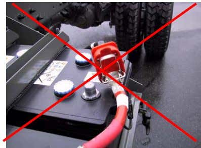 on the battery box cover Incorrect position Correct position 5. Do NOT leave the cap lock