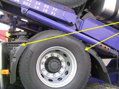 Dismounting & remounting mudguards PICTURES INFORMATIONS Dismounting : • joint can be loosened with a wrench
