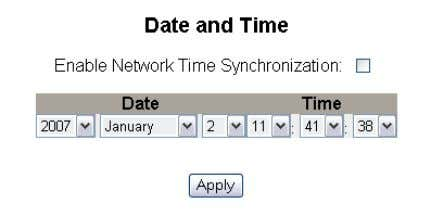 the Date and Time settings. Figure 12: Date and Time Page 16 © 2007-2012 Schneider Electric.