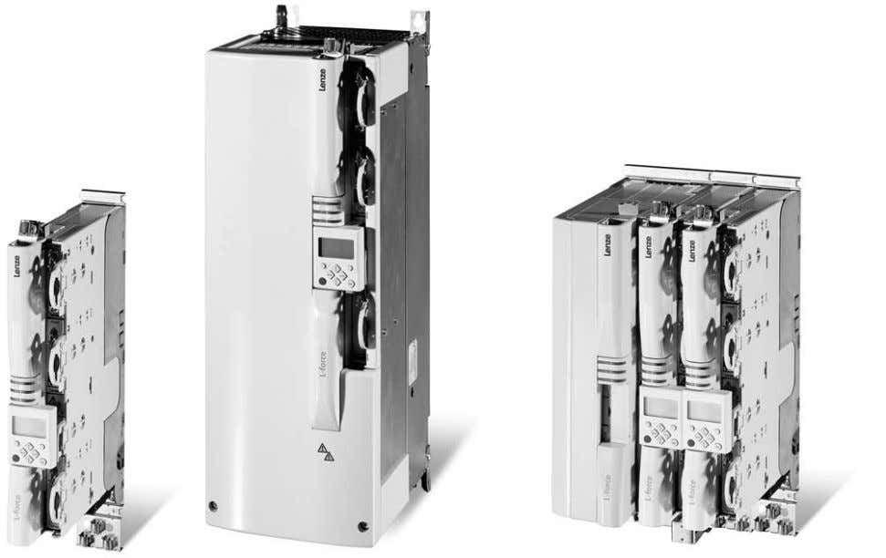 for compact installations for drives rated up to 15 kW. 9400 Servo Drives Single Drive and