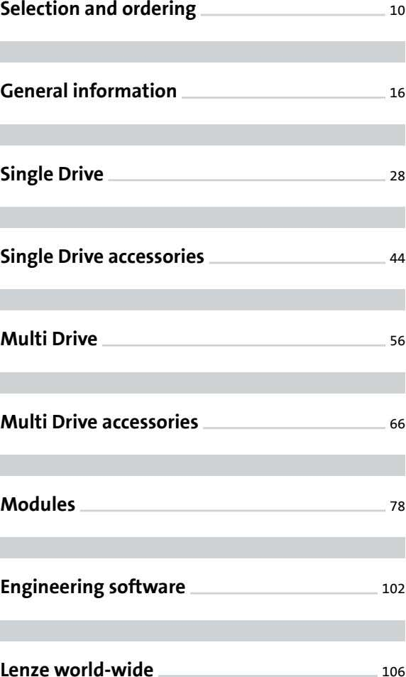 Selection and ordering 10 General information 16 Single Drive 28 Single Drive accessories 44 Multi