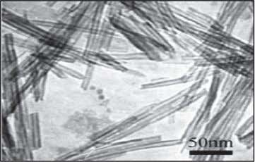of TiO 2 nanowires prepared by hydrothermal method [1]. FIGURE 6. TEM images of TiO2 nanotubes