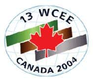 13 t h World Conference on Earthquake Engineering Vancouver, B.C., Canada August 1-6, 2004 Paper