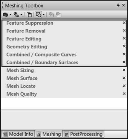 and editing tools are available in the Meshing Toolbox CT 1900 – Student Guide for Femap