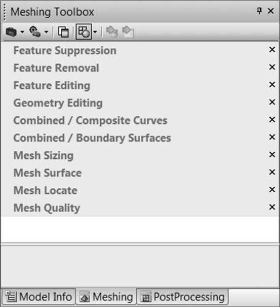 editing tools are available through the Meshing Toolbox CT 1900 – Student Guide for Femap 101