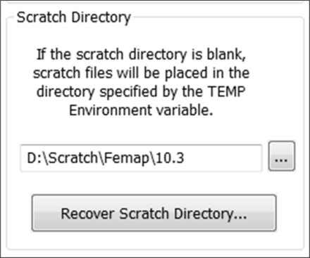 restart Femap after changing the Scratch Directory folder. CT 1900 – Student Guide for Femap 101