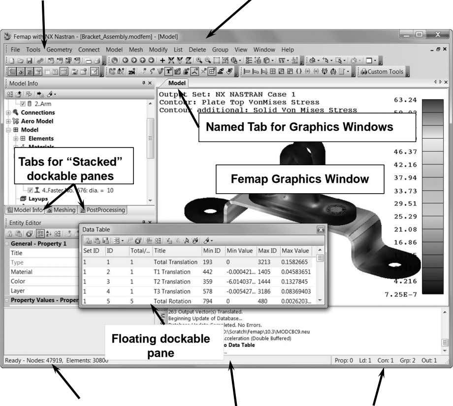 "Named Tab for Graphics Windows Tabs for ""Stacked"" dockable panes Femap Graphics Window Floating dockable"