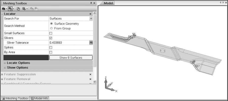 in Exercise 3b – Geometry Modificati on and Preparation. CT 1900 – Student Guide for Femap