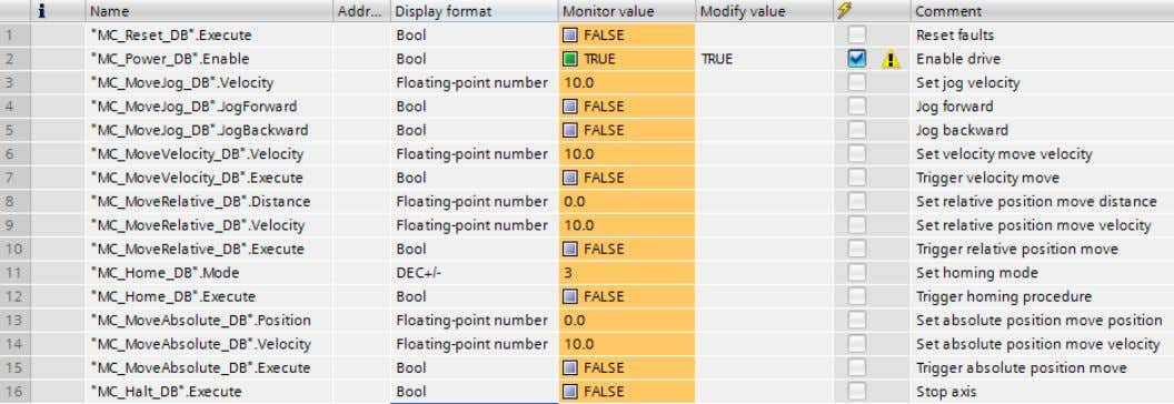 that you wish to modify into the Name column of the table. Figure 31 - Watch