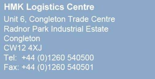 Automation & Drives is located in Congleton, Cheshire. Further Information HMK's website has contact details for