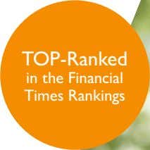 TOP-Ranked in the Financial Times Rankings