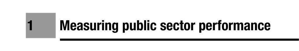1 Measuring public sector performance
