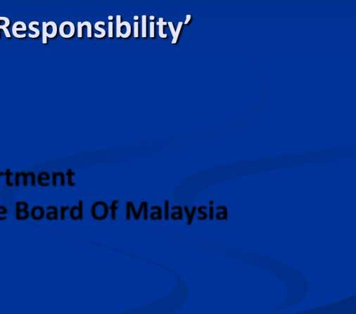 Business Dialogue ' Corporate Social Responsibility' Approval & Monitoring Division, Tax Policy Department