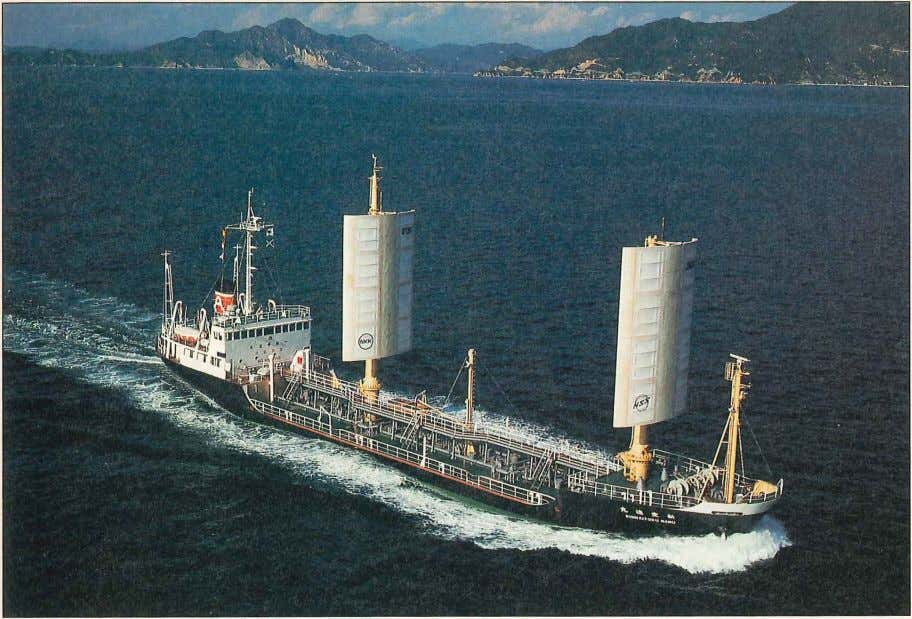 This Japanese design of a wind -assisted ship has been used for ships of up