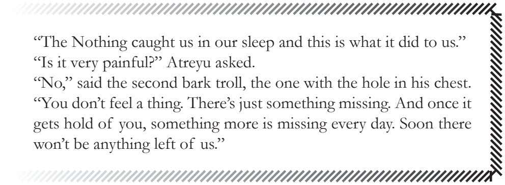 """The Nothing caught us in our sleep and this is what it did to us."""